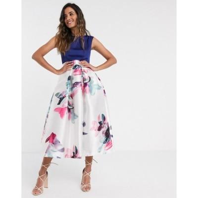 クローゼットロンドン レディース ワンピース トップス Closet London dress with printed skirt