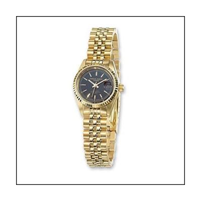 Jewelry Brothers Loose-gemstones Ladies Charles Hubert IP-Plated Stainless 26mm Black Dial Watch[並行輸入品]