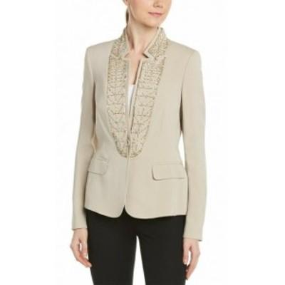 ESCADA エスカーダ ファッション 衣類 Escada Silk-Blend Jacket 32 Beige