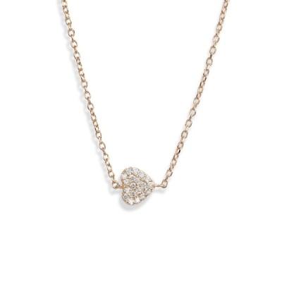 アンジー ネックレス・チョーカー・ペンダントトップ アクセサリー レディース Love Letter Diamond Pave Heart Pendant Necklace Gold/ Diamond