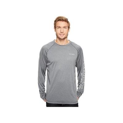 コロンビア Terminal Tackle Heather Long Sleeve Shirt メンズ シャツ トップス Charcoal Heather/Cool Grey Logo