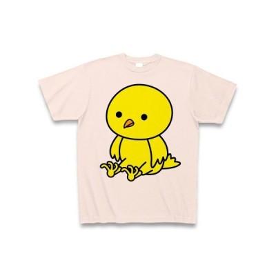 お座りひよこ Tシャツ(ライトピンク)