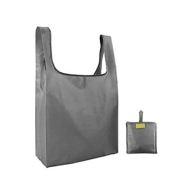 Lifenergy エコバッグ 折りたたみ式 買い物バッグ 大容量 防水素材 軽量 買い物袋 (グレー)