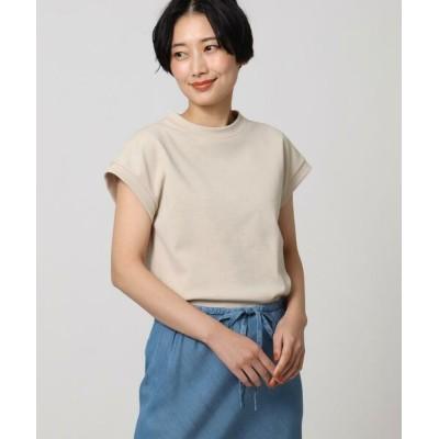 UNTITLED/アンタイトル 【洗える】テックリノジャージフレンチTシャツ ライトベージュ(051) 02(M)