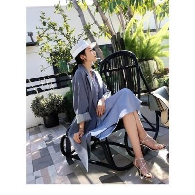 レディース アウター コート スプリングコート オフィス 体型カバー トレンチコート ファッション オフィスカジュアル 通勤 大きいサイズ 人気 薄手