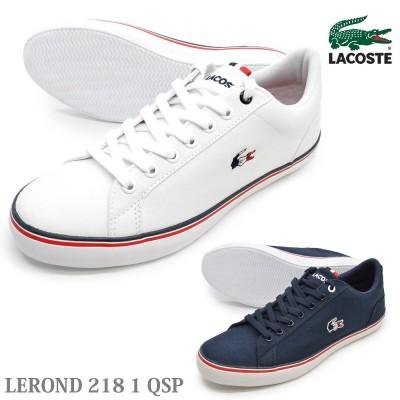 LACOSTE ラコステ   CAM0148 21G 092  LEROND 218 1 QSP ルロン 218 1 QSP  メンズ スニーカー ローカット レースアップシューズ 紐靴 運動靴 学校