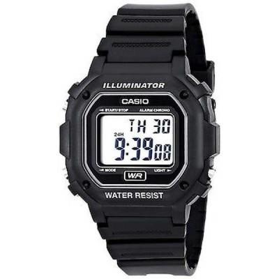 腕時計 カシオ Casio F108WH-1A メンズ ブラック LED Back ライト クロノグラフ アラーム LCD デジタル 腕時計