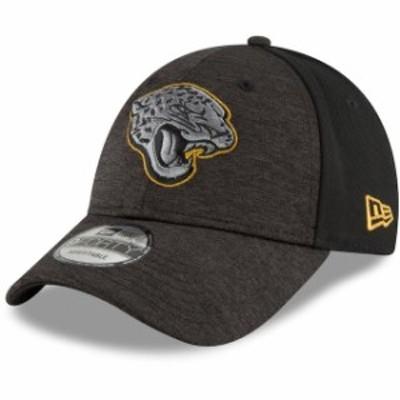 New Era ニュー エラ スポーツ用品  New Era Jacksonville Jaguars Heathered Black Shaded Front 9FORTY Adjustable Hat
