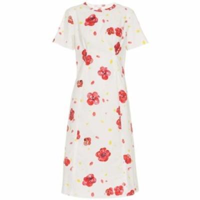 マルニ Marni レディース ワンピース ワンピース・ドレス Floral cotton dress White Red
