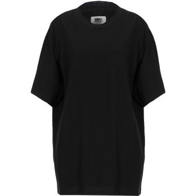 MM6 メゾン マルジェラ MM6 MAISON MARGIELA T シャツ ブラック S コットン 100% / ポリウレタン T シャツ