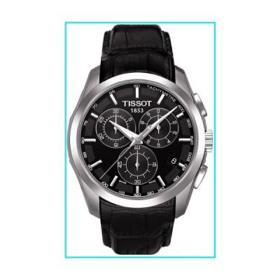TissotT035.617.16.051.00 Men's Couturier  Black Leather Swiss Quartz Watch with Black Dial【並行輸入品】