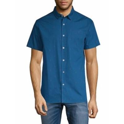 タビック メンズ カジュアル ボタンダウンシャツ Porter Short-Sleeve Cotton Button-Down Shirt