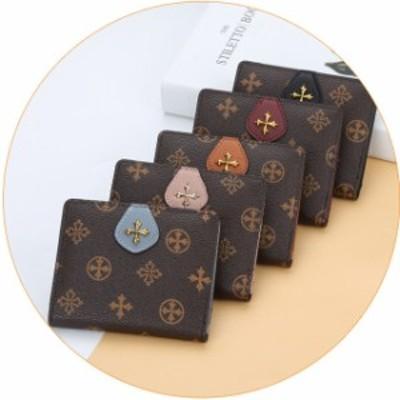 財布 レディース 5色 二つ折り財布 小さめ ミニ財布 送料無料 メール便 代引き不可