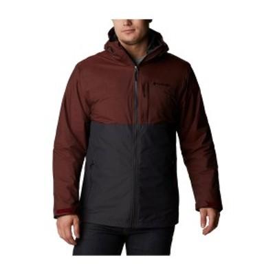 コロンビア メンズ ジャケット&ブルゾン アウター Men's Ridge Gates Interchange Jacket Shark Twill, Red Jasper Slub
