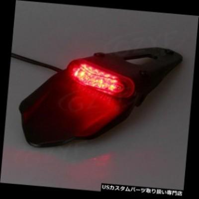 バイク テールライト 1PCユニバーサルリアホイールカバーフェンダーw / LEDブレーキストップテールライトオートバイ  1PC Universal Rea