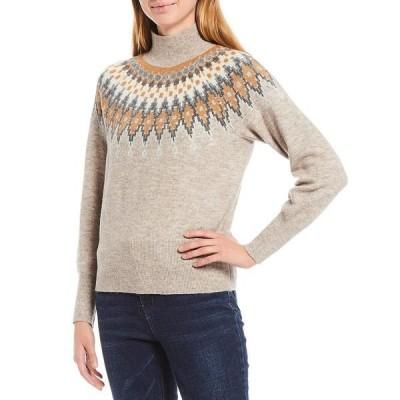 エーラブスエー レディース ニット&セーター アウター Fair Isle Mock Neck Sweater Multi