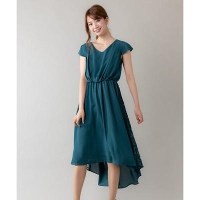 ドレス サイドレースイレヘムドレス(9R04-ZO61612)