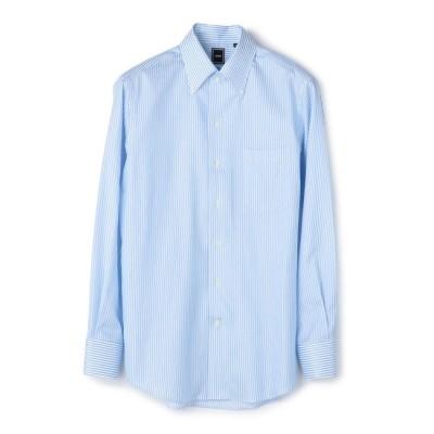 【シップス/SHIPS】 SD: 【MONTI社製生地】カラミ イタリアンボタンダウンシャツ(ライトブルー)