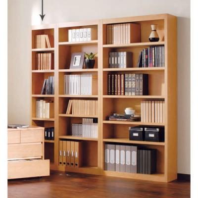 頑丈棚板がっちり書棚(頑丈本棚) ハイタイプ 幅40cm ライトブラウン