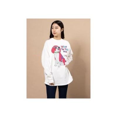アンティバル ANTIBAL レディース長袖Tシャツ(ホワイト)