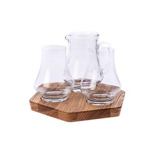英國Dartington 威士忌酒樽酒杯托盤4入組