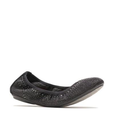 ハッシュパピー レディース サンダル シューズ Chaste Studded Leather Ballet Slip Ons Black Stud