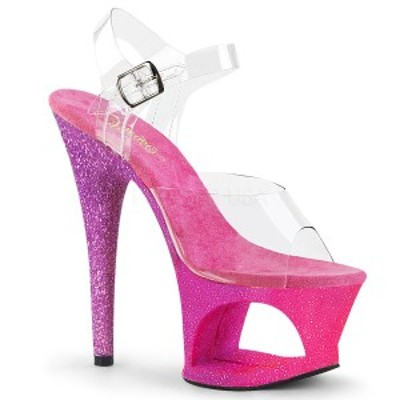 Pleaser MOON-708OMBRE 7inch Heel, 2 3/4inch Cut-Out PF Ankle Strap Sandal◆取り寄せ