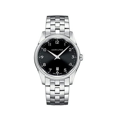 Hamilton Men's H38511133 Jazzmaster Slim Black Dial Watch並行輸入