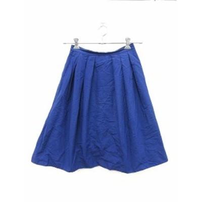 【中古】ユナイテッドアローズ A DAY IN THE LIFE UNITED ARROWS スカート フレア ひざ丈 青 ブルー /KB レディース