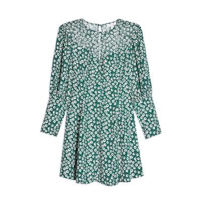 トップショップ TOPSHOP ミニワンピース&ドレス グリーン 10 ポリエステル 100% ミニワンピース&ドレス