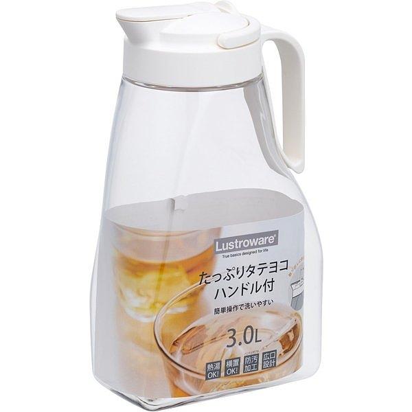 日本岩崎 可橫放耐熱冷水壺3.0L