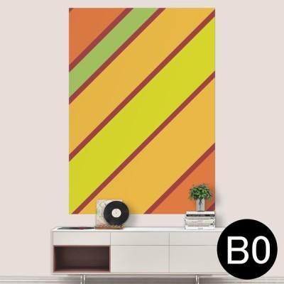 ポステッカー ポスター ウォールステッカー シール式ステッカー 飾り 1030mm×1456mm B0 写真 フォト 壁 ボーダー オレンジ 黄色 003972