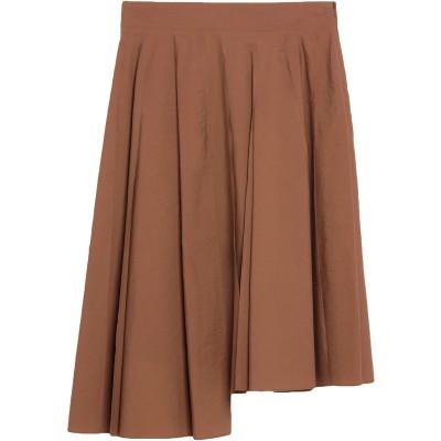 ブルネロ クチネリ BRUNELLO CUCINELLI ひざ丈スカート ブラウン 42 コットン 75% / ナイロン 25% ひざ丈スカート