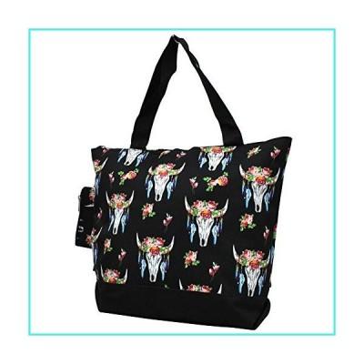【新品】NGIL Canvas Tote Bag with Attached Coin Bag (Bull Skull-Black)(並行輸入品)