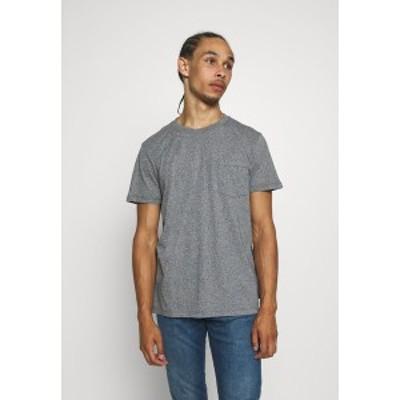 エスプリ メンズ Tシャツ トップス SLIM FIT - Basic T-shirt - navy navy