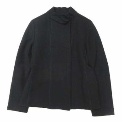 【中古】ヒロコビス HIROKO BIS ウール コート ジャケット ブルゾン 11 黒 ブラック レディース レディース