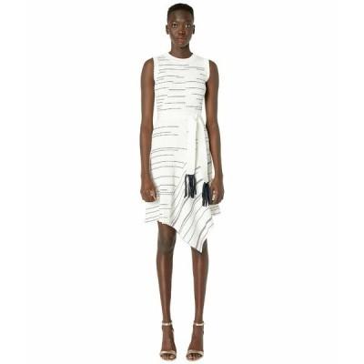 イエガルズロール ワンピース トップス レディース Striped Rib Asymmetric Hem Dress Ivory Multi