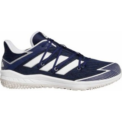 アディダス メンズ スニーカー シューズ adidas Men's adizero Afterburner 7 Turf Baseball Cleats Navy/White