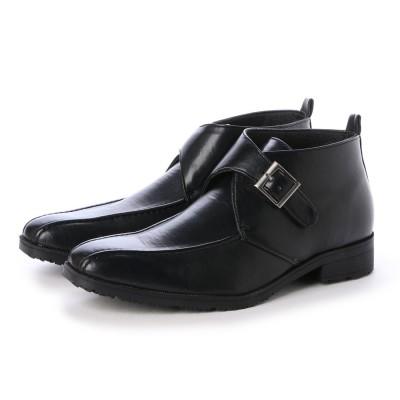 ウィルソン Wilson ビジネスシューズ メンズ 4cm防水、防滑 チャッカ ベルトブーツ 紳士靴  (BLACK)