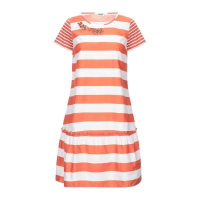 リュー ジョー LIU •JO ミニワンピース&ドレス 赤茶色 42 コットン 100% ミニワンピース&ドレス