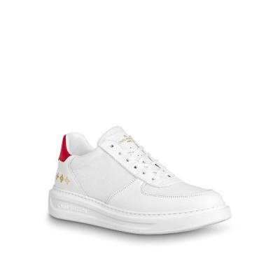 ルイヴィトン LOUIS VUITTON スニーカー シューズ 靴 ルージュ レッド ホワイト メッシュ