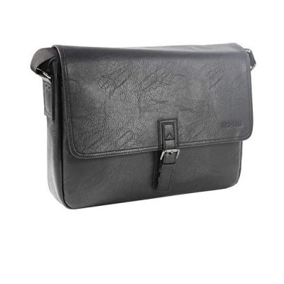 "Kenneth Cole Reaction Modern Dilemma Pebbled Faux Leather Laptop & Tablet Business Case Travel Bag, 15"" Laptop Messenger【並行輸入品"