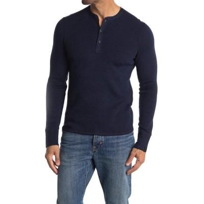 ラグアンドボーン メンズ ニット&セーター アウター Davis Wool & Linen Blend Henley NVY