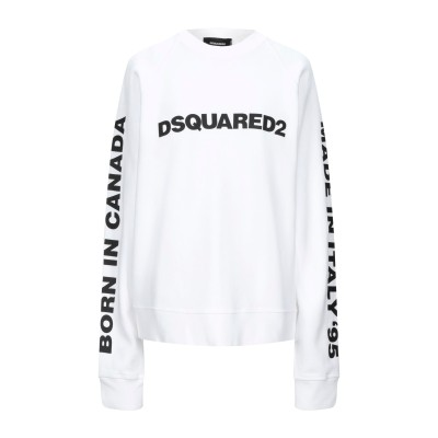 ディースクエアード DSQUARED2 スウェットシャツ ホワイト S コットン 100% スウェットシャツ