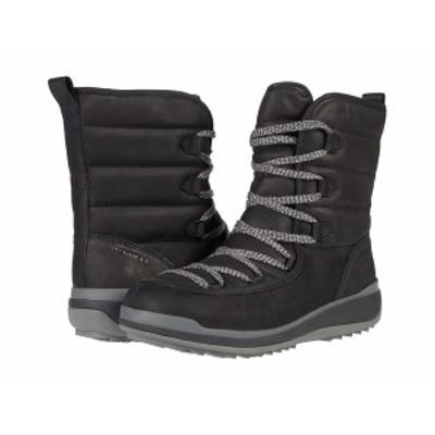 メレル レディース ブーツ&レインブーツ シューズ Snowcreek Cozy Polar Waterproof Black Leather