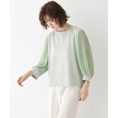 SOUP / 【大きいサイズあり・13号】シアープリーツ袖プルオーバー WOMEN トップス > Tシャツ/カットソー