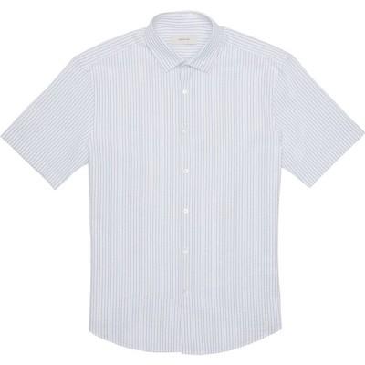 セルッティ Cerruti 1881 メンズ 半袖シャツ トップス Waffle Weave Short Sleeve Shirt blue