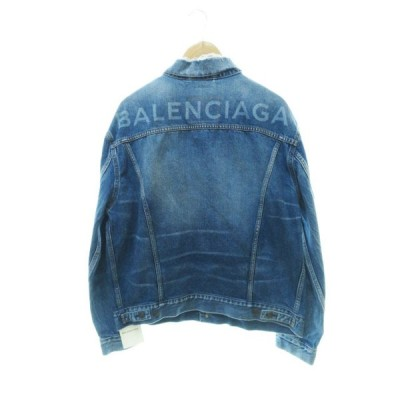 【中古】バレンシアガ BALENCIAGA 17AW Like a man oversized Denim Jacket デニムジャケット 34 国内正規 210409☆AA★ メンズ レディース 【ベクトル 古着】