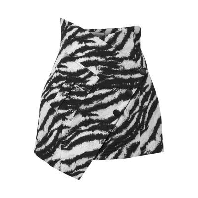 REDEMPTION ひざ丈スカート ブラック 42 コットン 60% / ナイロン 28% / ポリエステル 9% / ポリウレタン 3% ひざ丈