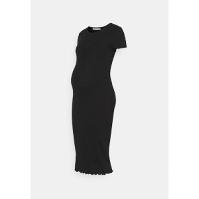 アンナ フィールド ママ レディース ワンピース トップス Jersey dress - black black